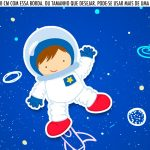 Saia Lateral de Bolo Festa Astronauta