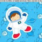 Saia Lateral de Bolo Astronauta Cute