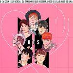 Saia Lateral de Bolo BTS Anime