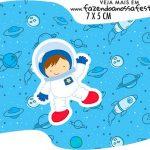 Topper Bandeirinha Festa Astronauta Cute