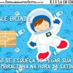 Vale Brinde Festa Astronauta Cute