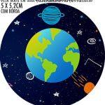 adesivo mini latinha Kit Festa Astronauta