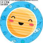 adesivo mini latinha Kit Festa Astronauta Cute