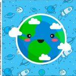 caixa de acrilico adesivo personalizado Astronauta Cute