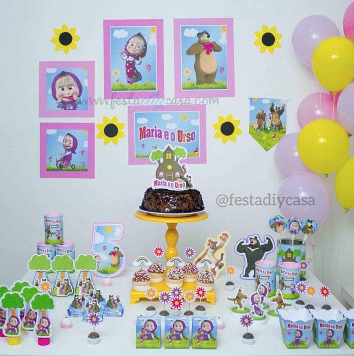 28 Festa Infantil em casa Masha e o Urso