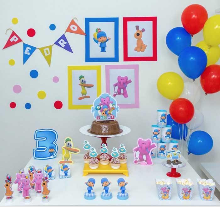 30 Festa Infantil em casa Pocoyo