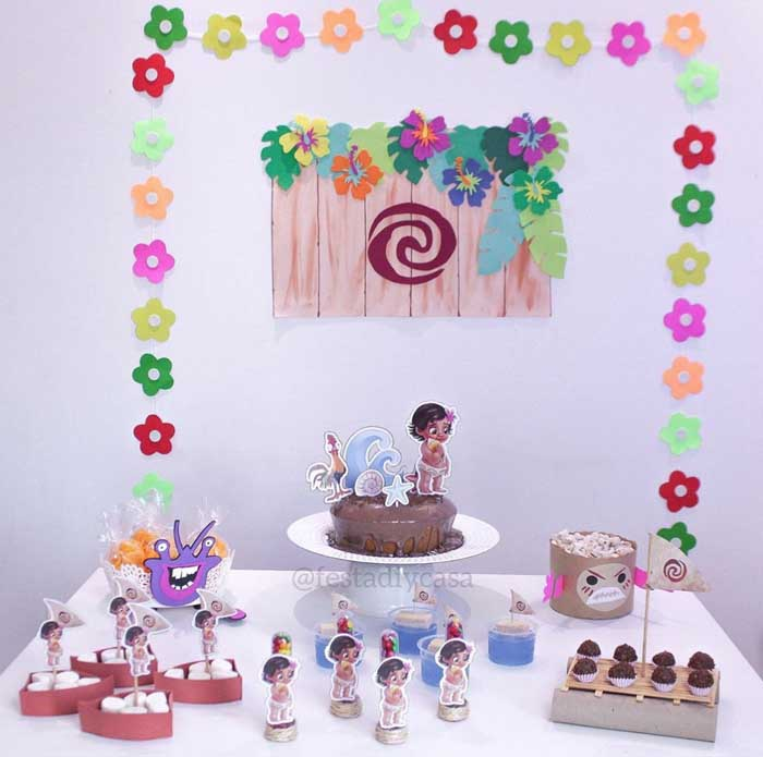 32 Festa Infantil em casa Moana