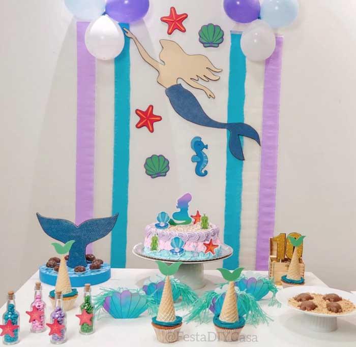 33 Festa Infantil em casa Sereia