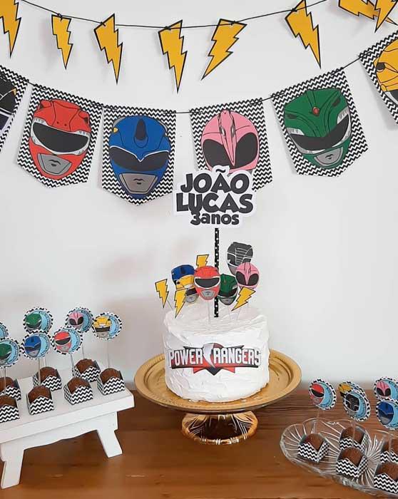 42 Festa em Casa Power Rangers