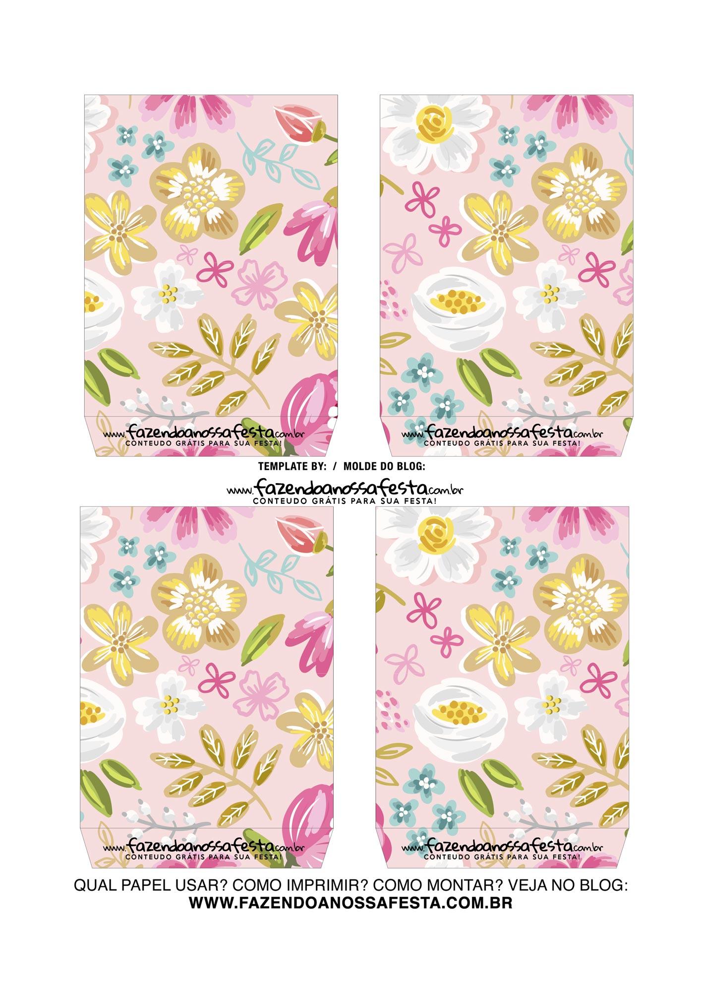 Caixa Explosao Dia das Maes Floral Rosa 4