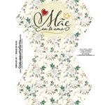 Caixa Explosiva Dia das Maes Floral Cinza e bege 1