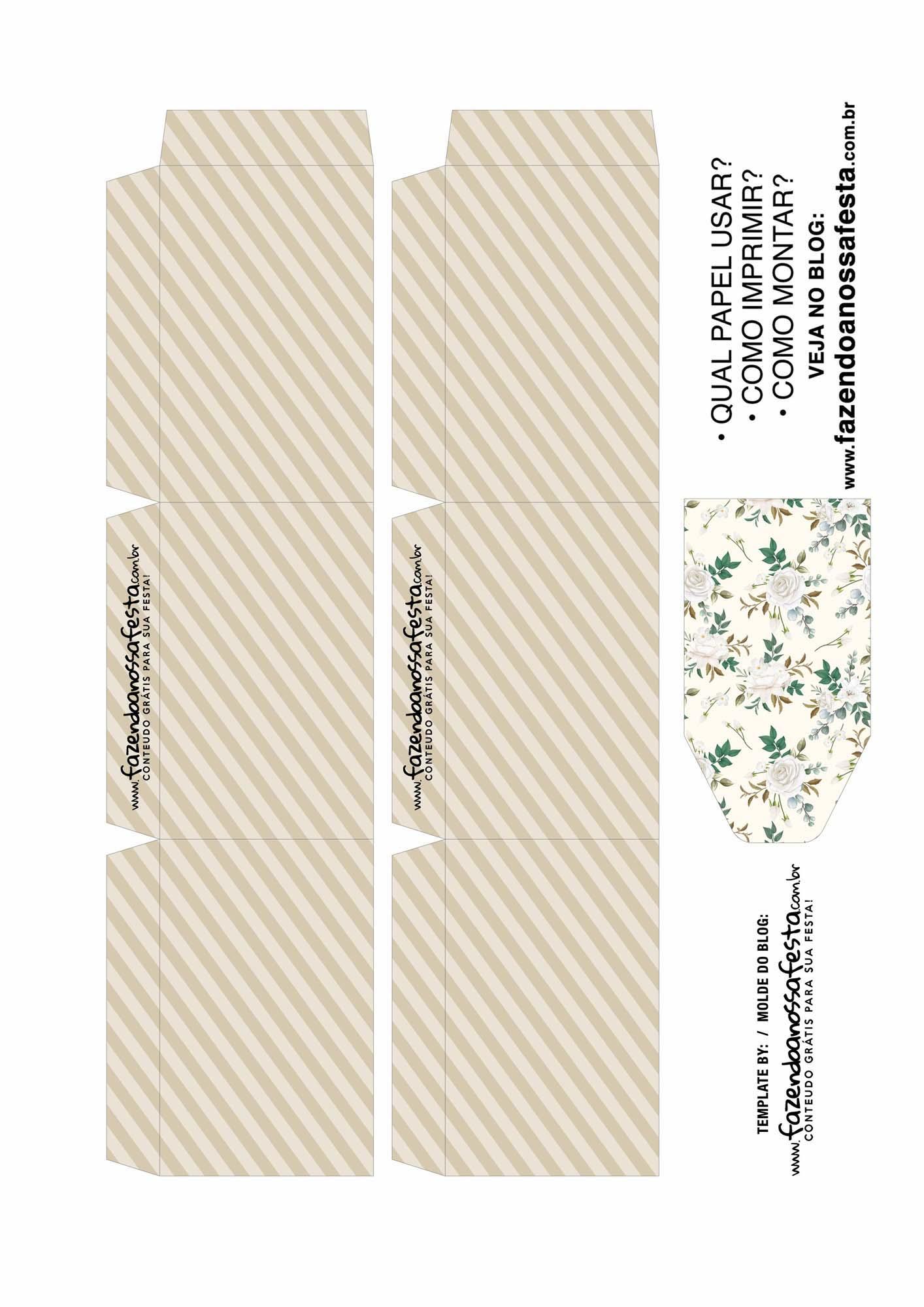 Caixa Explosiva Dia das Maes Floral Cinza e bege 2