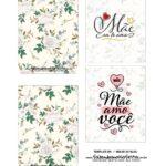 Caixa Explosiva Dia das Maes Floral Cinza e bege 3
