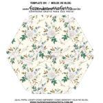 Caixa Explosiva Dia das Maes Floral Cinza e bege 6