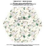 Caixa Explosiva Dia das Maes Floral Cinza e bege 7