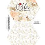 Caixa Explosiva Dia das Maes Floral Dourado 1