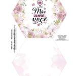 Caixa Explosiva Dia das Maes Floral Rosa Aquarela 1