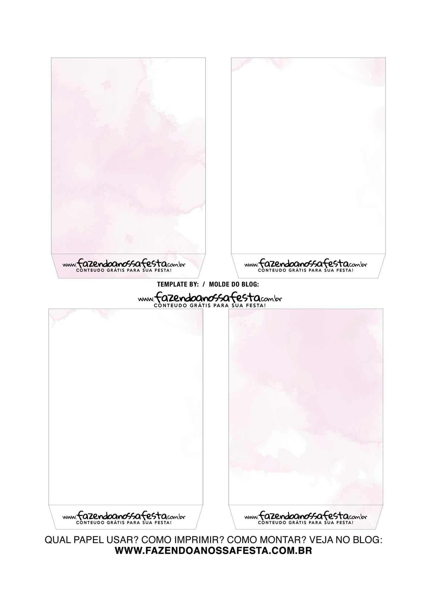 Caixa Explosiva Dia das Maes Floral Rosa Aquarela 4