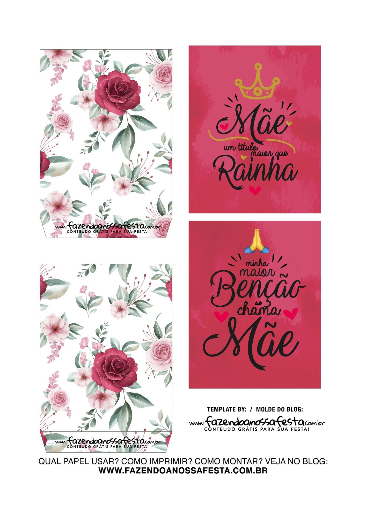 Caixa Explosiva Dia das Maes Floral Vermelho 3