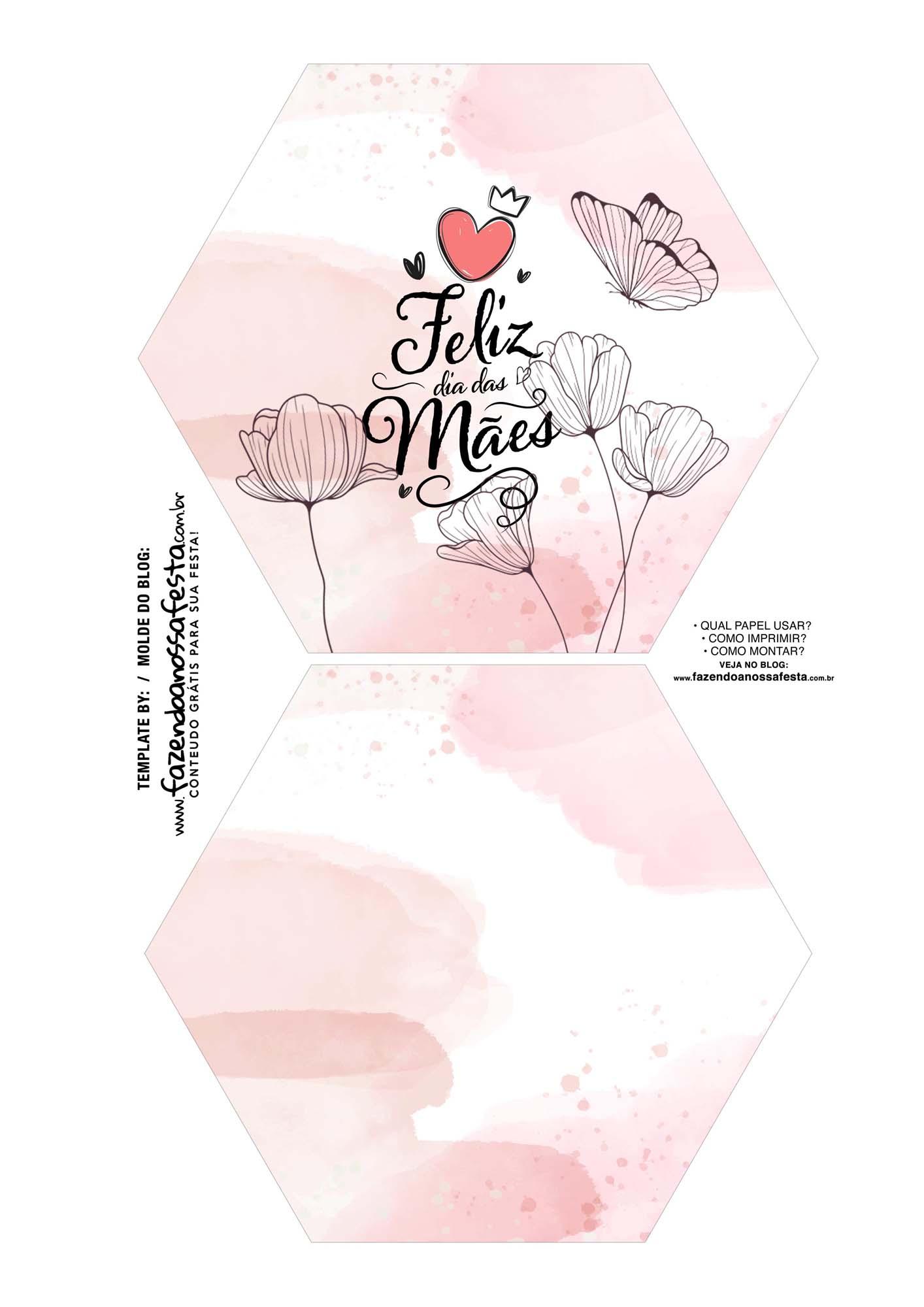 Caixa Explosiva Dia das Maes floral borboleta 1