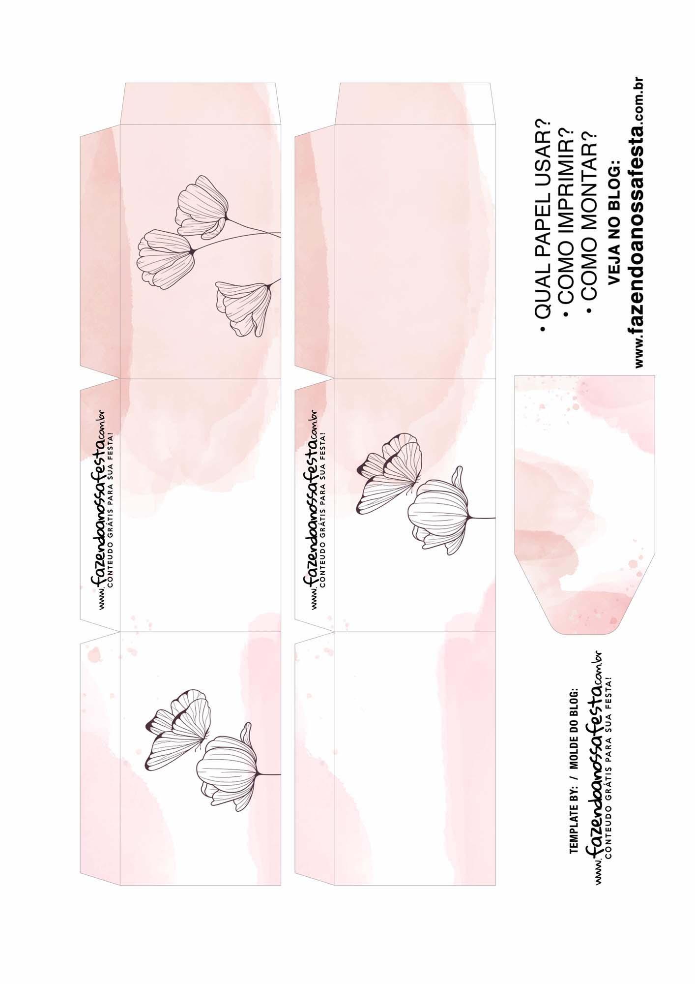 Caixa Explosiva Dia das Maes floral borboleta 2