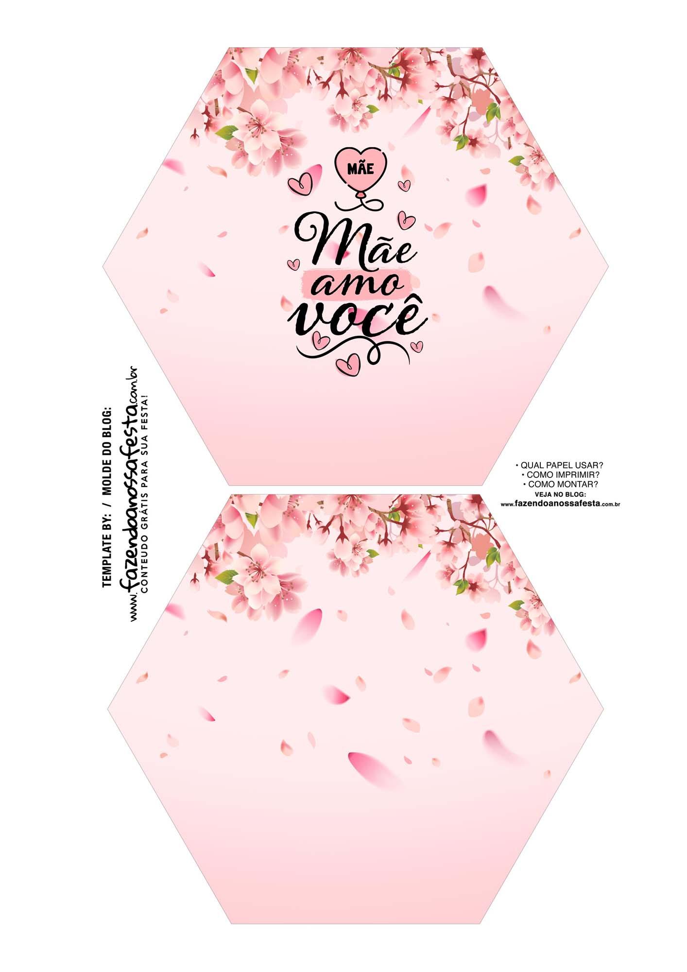 Caixa Explosiva Dia das Maes floral cerejeira 1