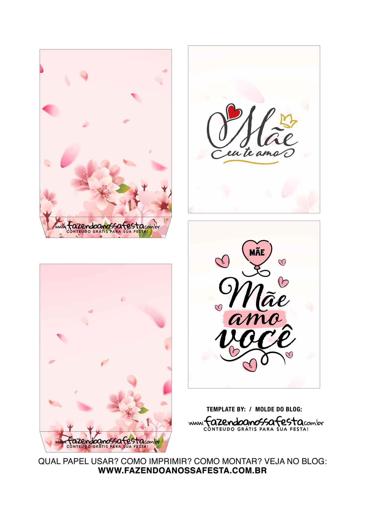 Caixa Explosiva Dia das Maes floral cerejeira 3
