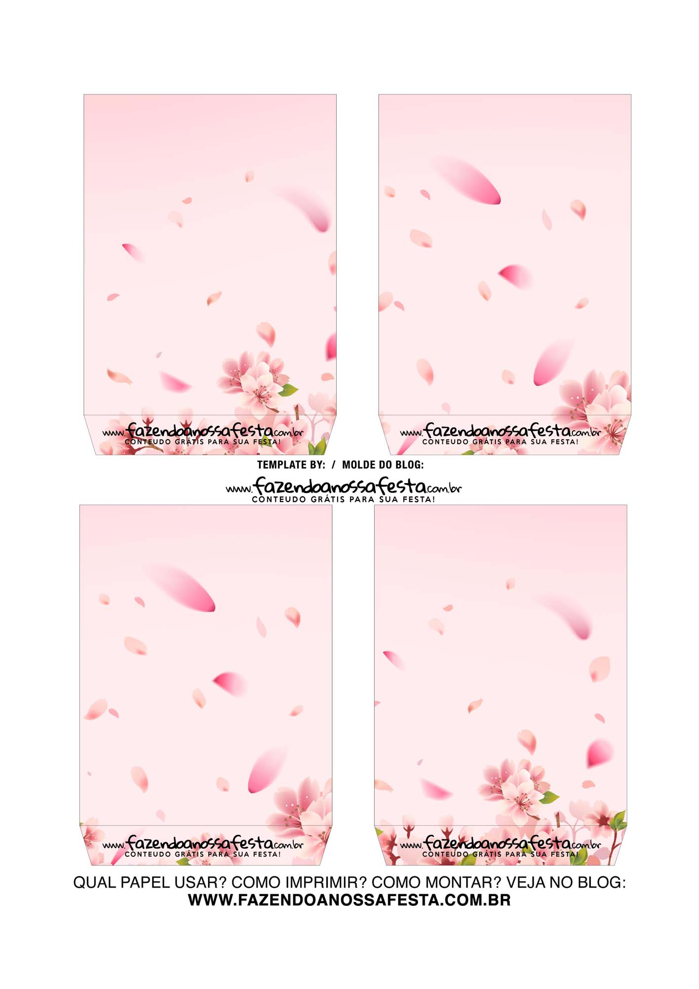 Caixa Explosiva Dia das Maes floral cerejeira 4