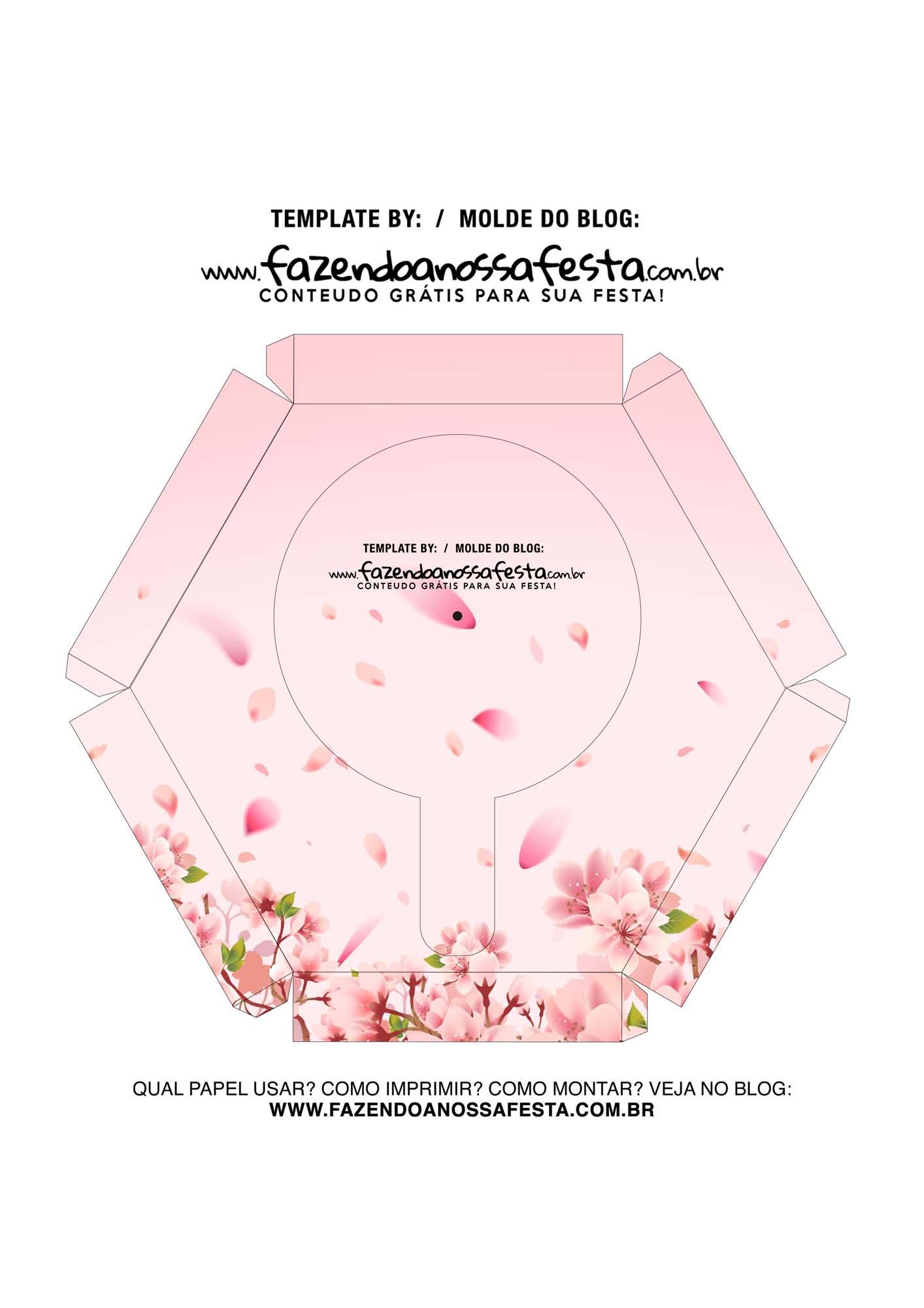 Caixa Explosiva Dia das Maes floral cerejeira 7