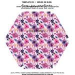 Caixa Explosiva Dia das Maes floral rosa e roxo 8