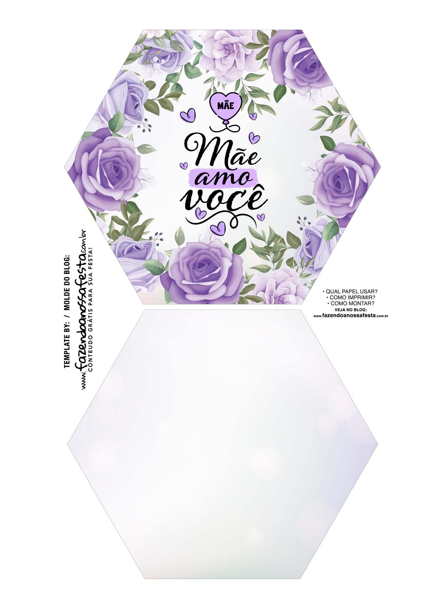 Caixa Explosiva Dia das Maes floral roxo 1