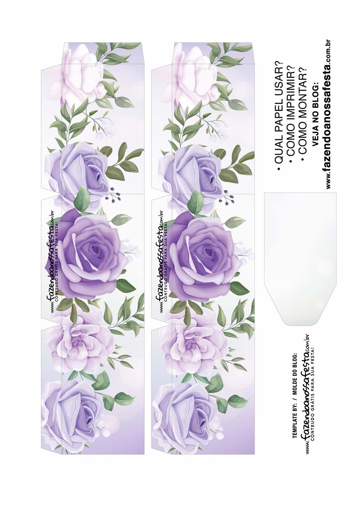 Caixa Explosiva Dia das Maes floral roxo 2