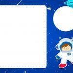 Convite Astronauta gratis