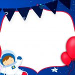 Convite Astronauta para aniversario