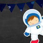 Convite Chalkboard Astronauta 2