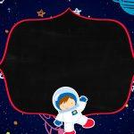 Convite Chalkboard Astronauta 3