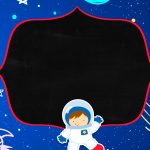 Convite Chalkboard Astronauta 4