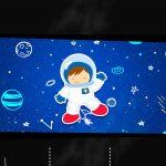 Convite Chalkboard Astronauta para imprimir