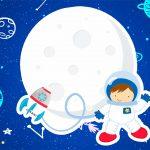 Convite Festa Astronauta gratis para festa