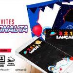 Convite Festa Astronauta para imprimir