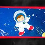 Convite Virtual Chalkboard Astronauta