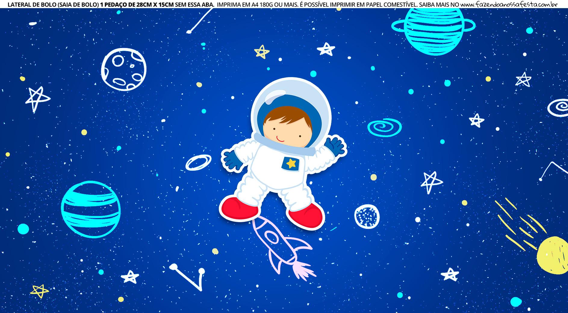 Faixa Lateral de Bolo Astronauta 2