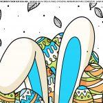 Faixa lateral para bolo tema Pascoa