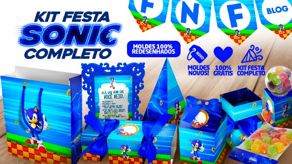 Kit Festa Sonic gratis