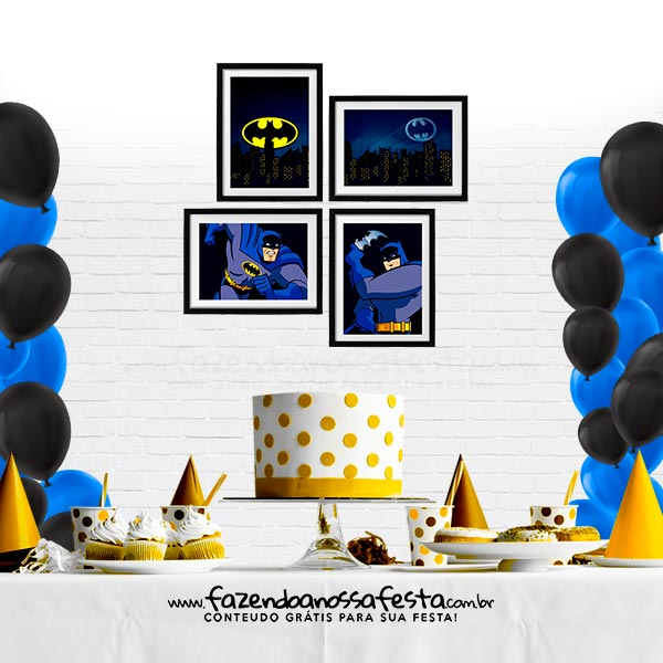 Kit Quadrinho Festa Batman Gratis para Imprimir