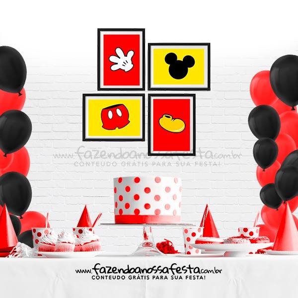 Kit Quadrinho Festa Mickey Gratis para Imprimir