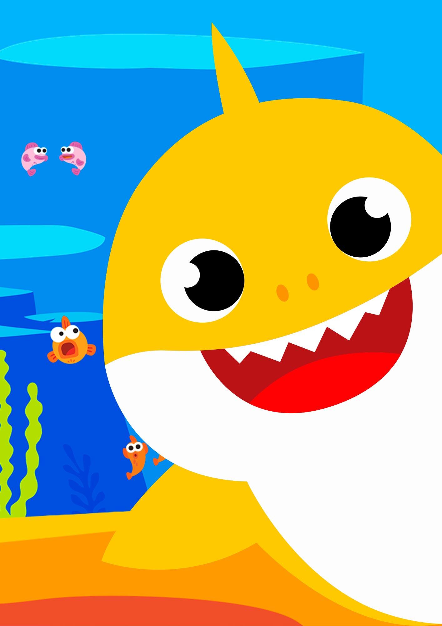 Kit Quadrinhos para Festa Baby Shark