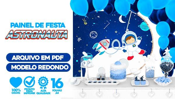 Painel Festa Astronauta gratis