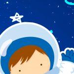 Painel Redondo Astronauta 7