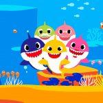 Quadrinho decorativo festa Baby Shark